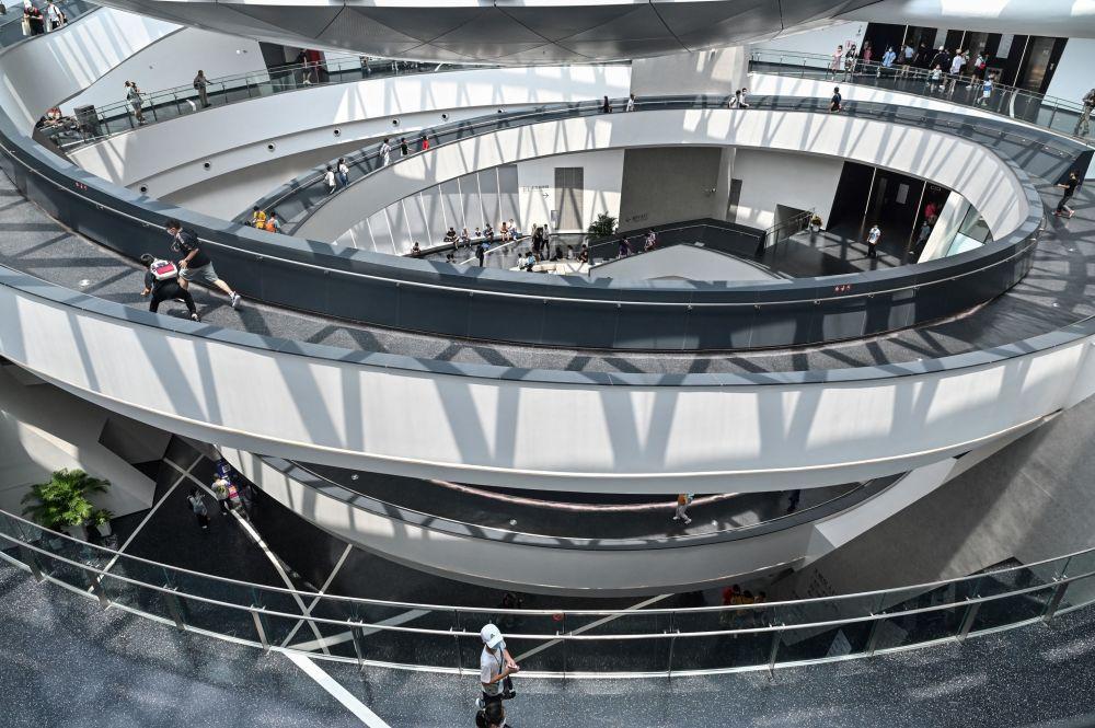 上海天文館的參觀者