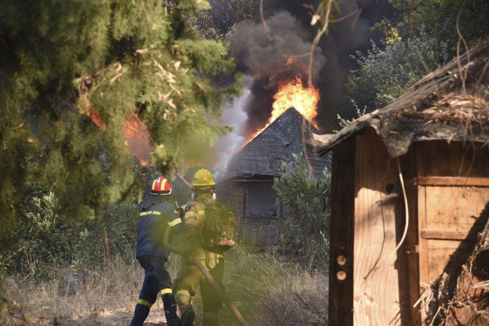 图片新闻:希腊火灾