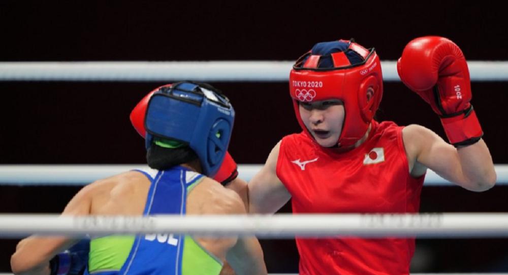 黄筱雯和并木月海获得东京奥运会女子拳击蝇量级铜牌
