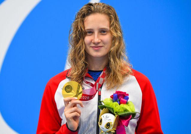 俄游泳选手夺得两枚残奥会金牌