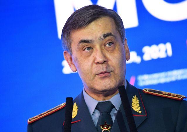 Министр обороны Казахстана Нурлан Ермекбаев выступает на IX Московской конференции по международной безопасности в Москве.