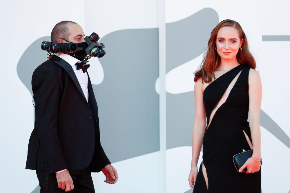 到场参加第78届威尼斯国际电影节开幕式的嘉宾。