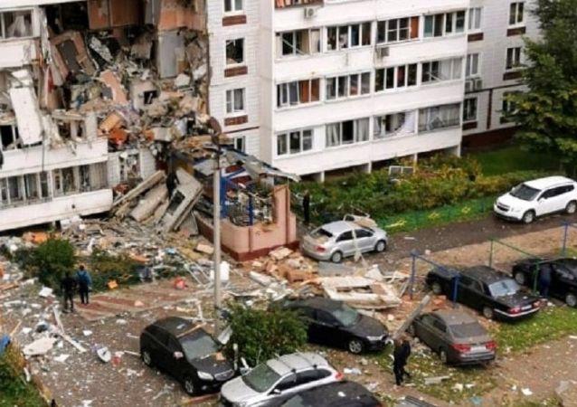 俄侦委:莫斯科州诺金斯克住宅楼煤气爆炸致17人受伤