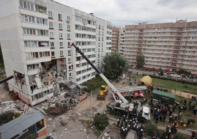 俄莫斯科州瓦斯爆炸废墟下找到第6名遇难者遗体