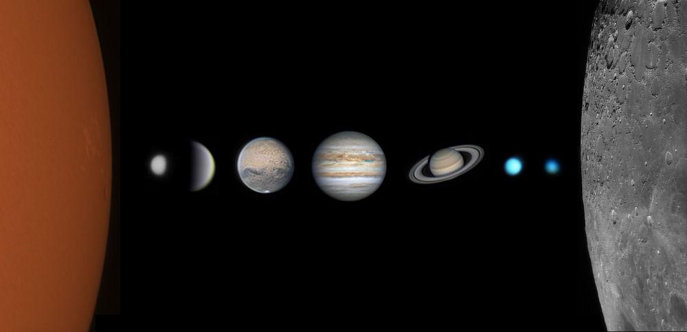 15岁中国摄影师王至璞拍摄的《太阳系全家福》夺得英国皇家天文台第十三届年度天文摄影师大赛最佳新人奖