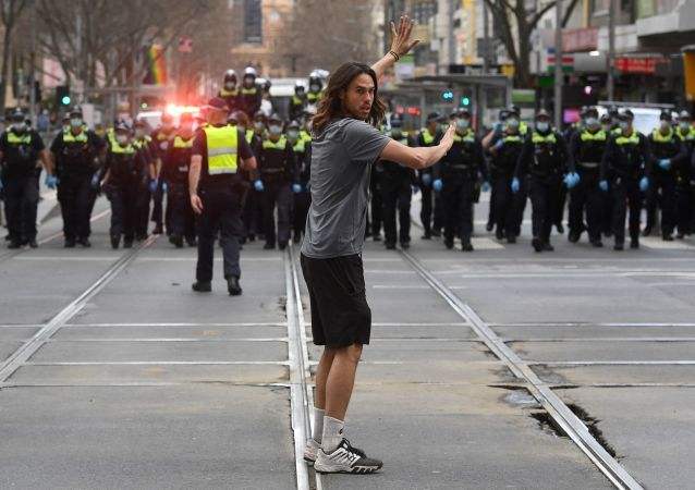 墨尔本的抗议活动