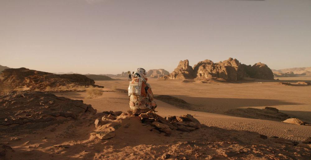 電影《火星救援》中的畫面。