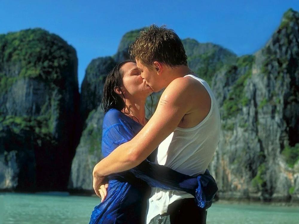 電影《海灘》中的畫面。