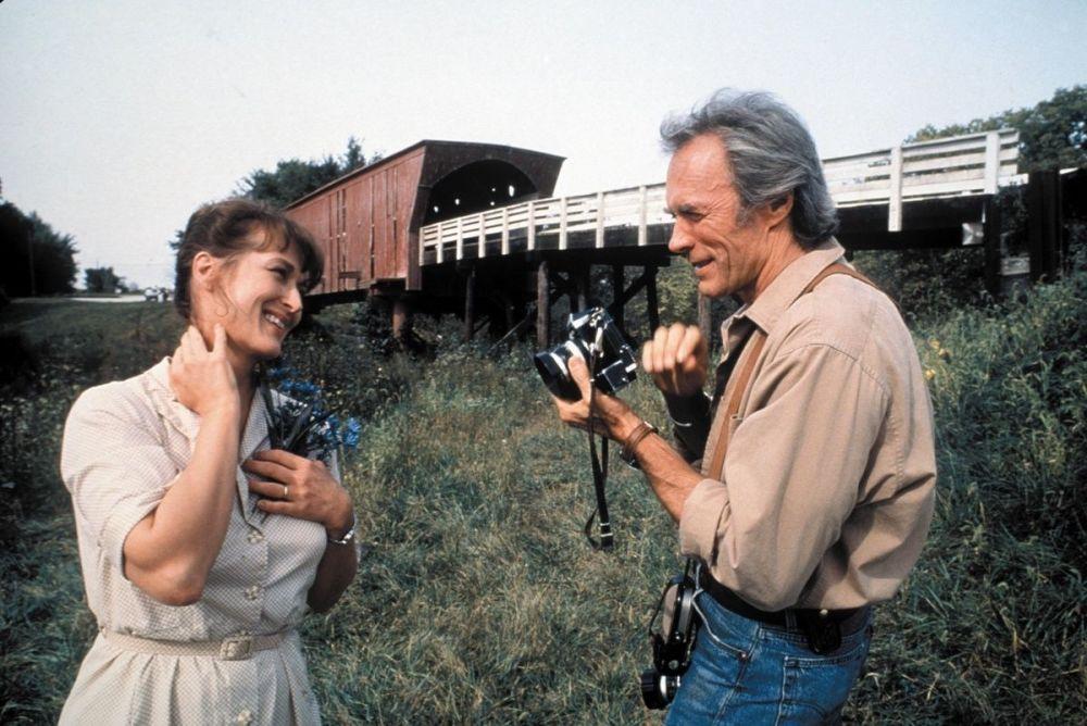 電影《廊橋遺夢》中的畫面。