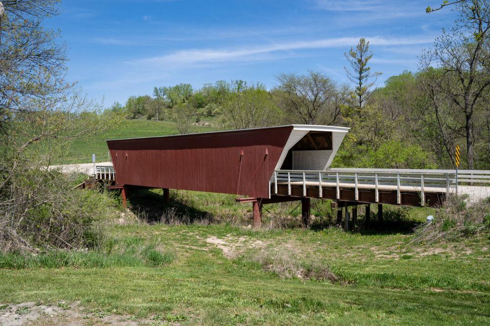 美國麥迪遜附近的雪松橋。