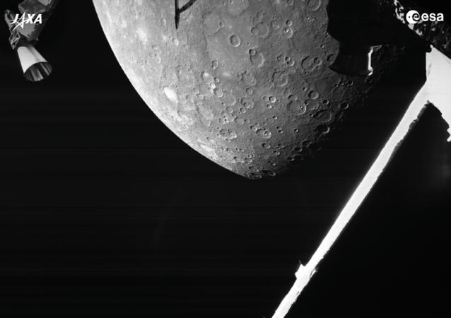 """欧洲航天局:""""比皮科伦坡""""探测器传回首张水星图像"""