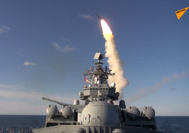 太平洋舰队舰艇在日本海发射十枚导弹