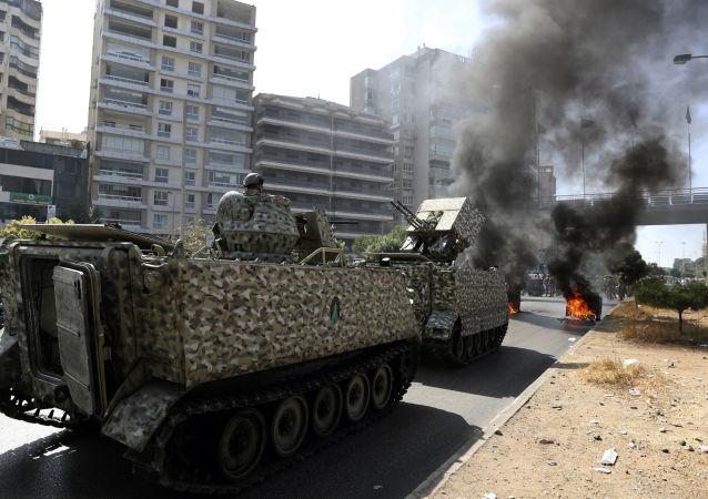 黎巴嫩军方在贝鲁特展开特备行动的区域发生爆炸