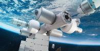 Orbital Reef美国未来商业空间站的构造图。