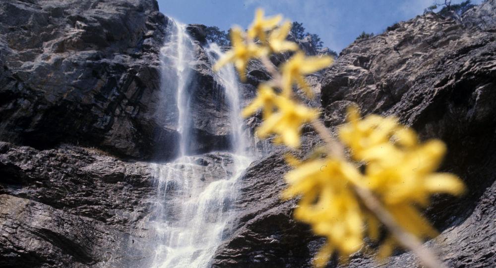 克里米亞最高的烏昌蘇瀑布