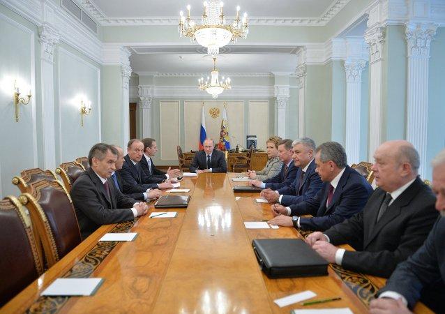 普京在安全理事会会议上讨论一系列重要国际问题