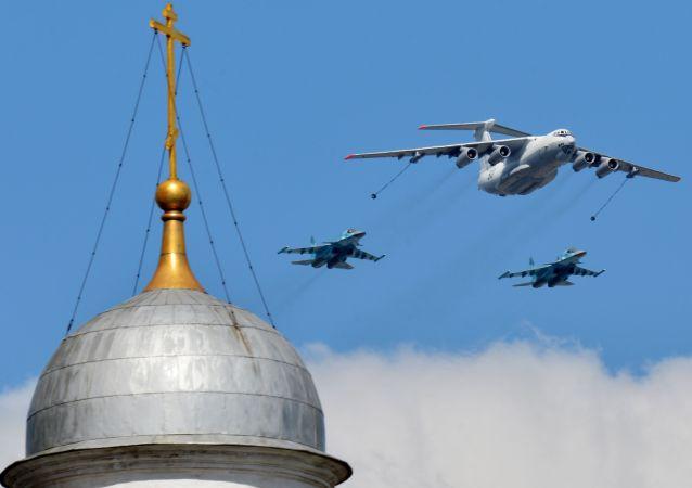 莫斯科胜利日阅兵空中部分彩排