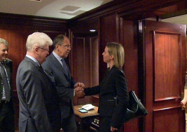 欧盟:俄欧外长支持联合国努力解决叙利亚和利比亚危机