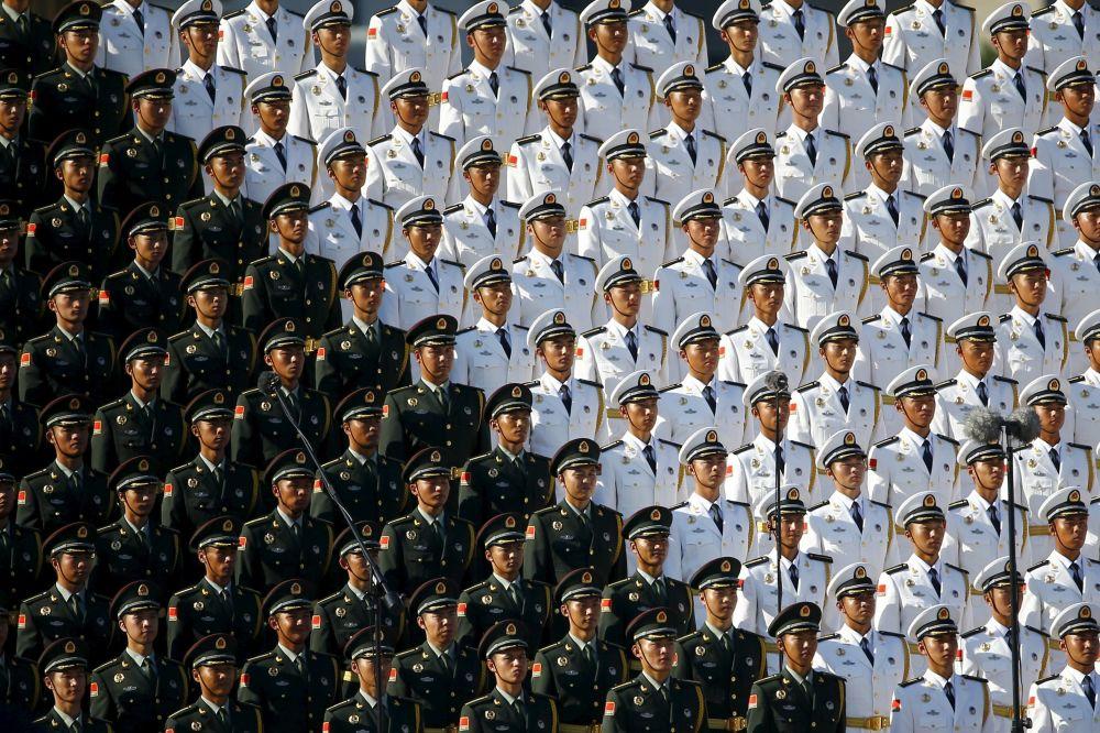 二战胜利70周年大阅兵上的解放军合唱团