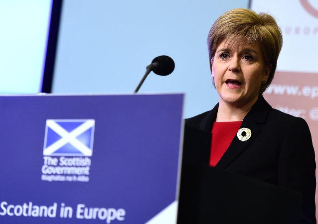 苏格兰第一总理尼古拉·斯特金