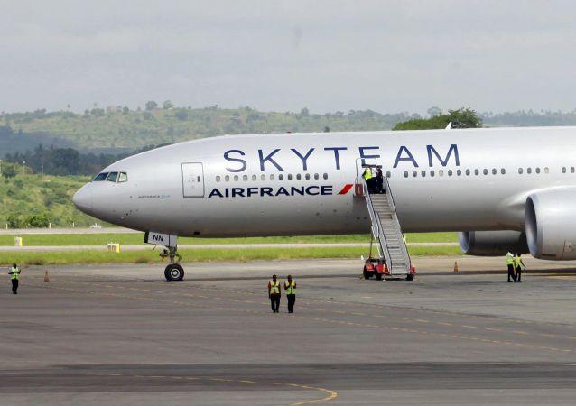 一架法国航空公司飞机