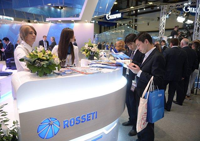 俄羅斯電網公司在聖彼得堡博覽會上的展台/資料圖片/