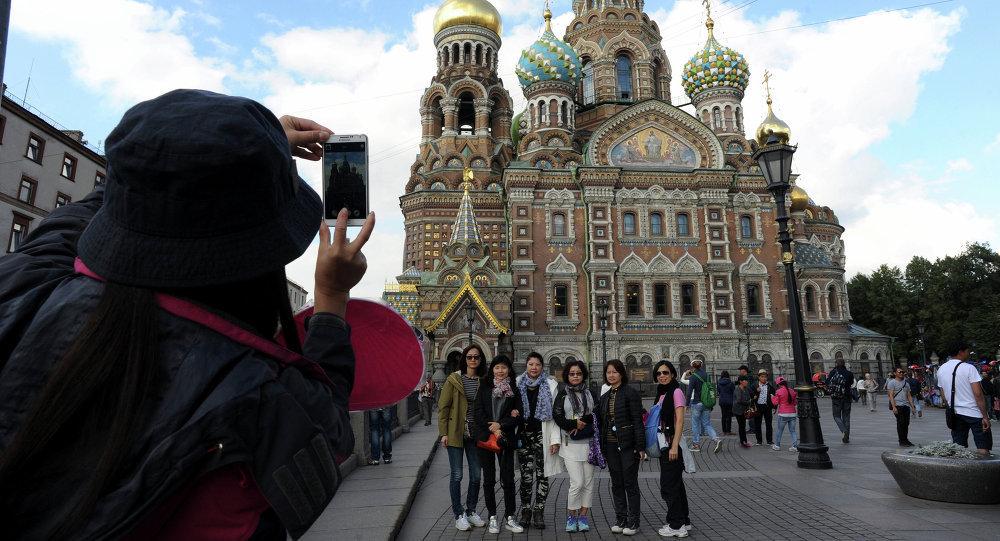 中國旅客在聖彼得堡/資料圖片/