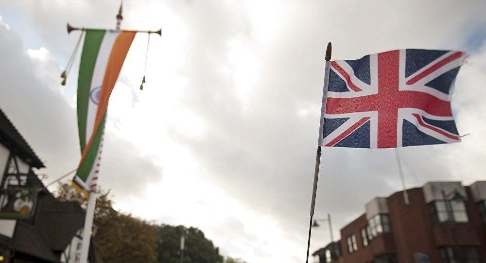 英國和印度的旗幟