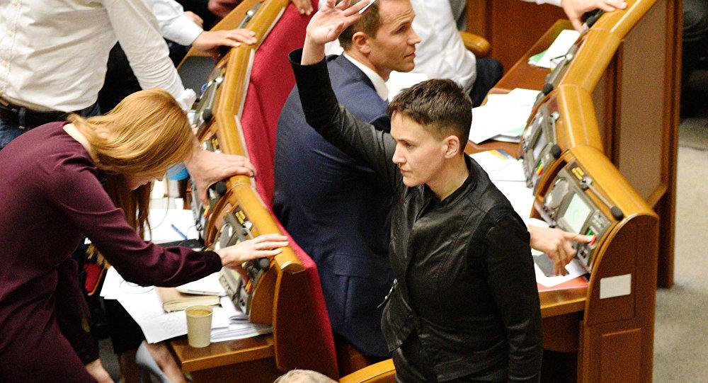 乌最高拉达议员萨夫琴科