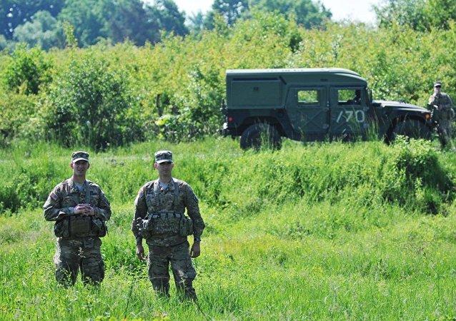 美國軍人在烏克蘭(圖片資料)