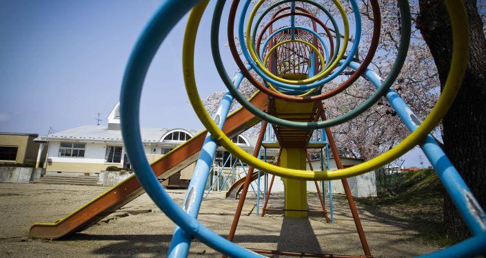福岛核电站附近的儿童游乐场