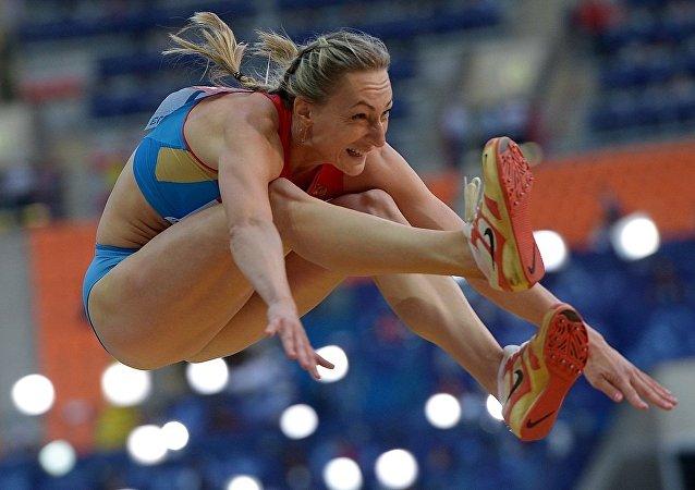 俄羅斯三級跳田徑運動員安娜·普亞蒂赫