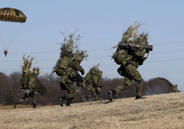 日本自卫队地面部队的演习