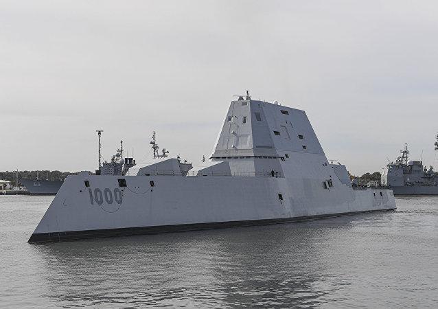 """美国的""""隐身""""军舰"""
