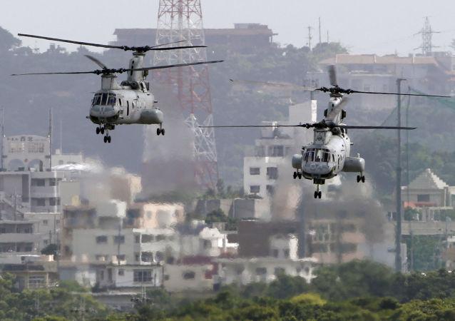日本要求美國軍人不再在其境內使用直升機