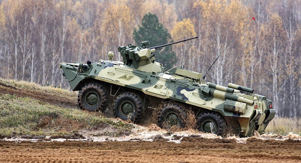 装甲车被调往格鲁吉亚首都郊区开展反恐行动的地区