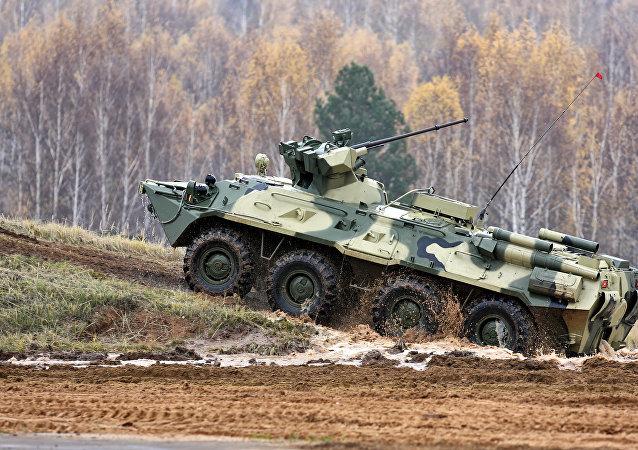 白俄罗斯国防部:第一批俄罗斯BTR-82A抵达白俄罗斯