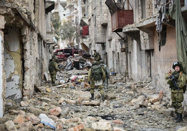 俄工兵在阿勒頗完成掃雷任務後回國