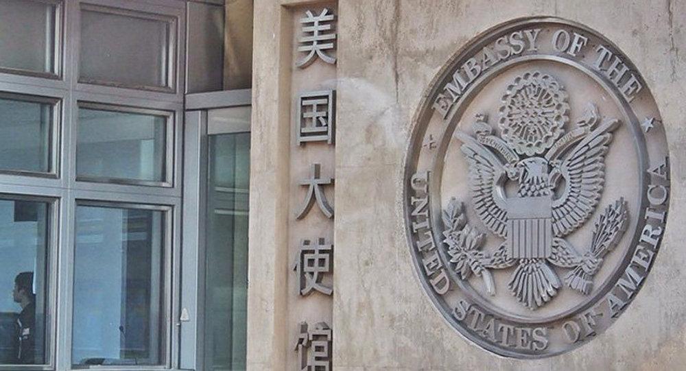 美国大使馆微博引中国网友愤怒