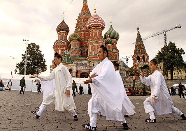 道土在莫斯科红场
