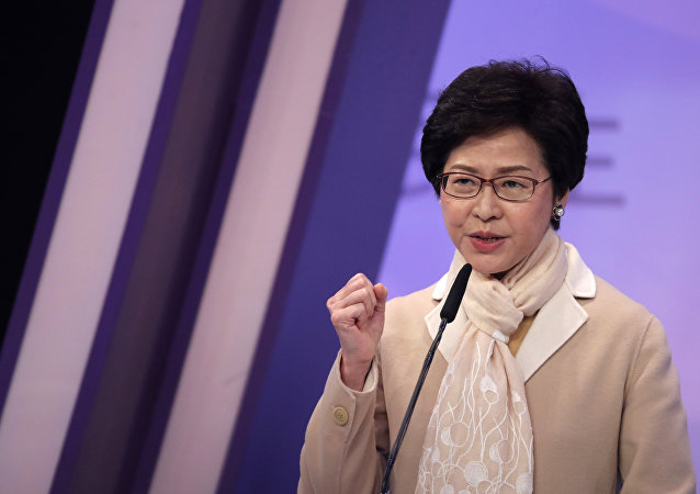 Hong Kong's chief executive-elect Carrie Lam