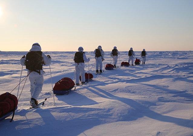 俄军方环保人员在北极弗兰格尔岛收集超过450吨垃圾