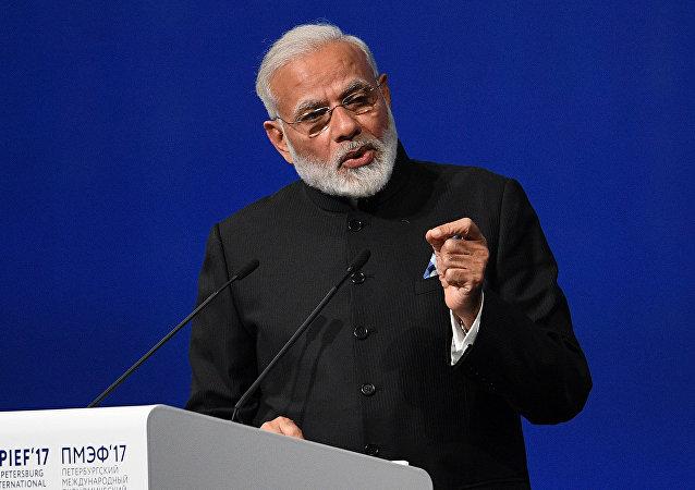 印度總理在聖彼得堡經濟論壇上提出建設「新印度」計劃