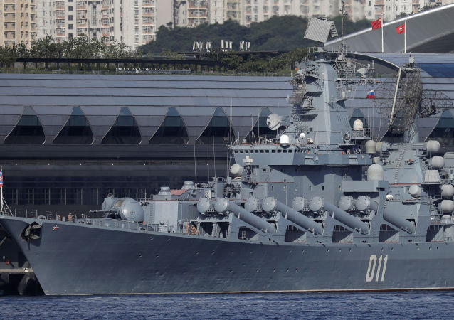 俄太平洋艦隊的「瓦良格」號導彈巡洋艦