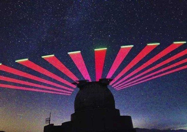 興隆站跟蹤「墨子號」量子科學實驗衛星的實景拍攝