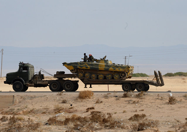 Сирийская армия и отряды ополчения на подступах к Пальмире