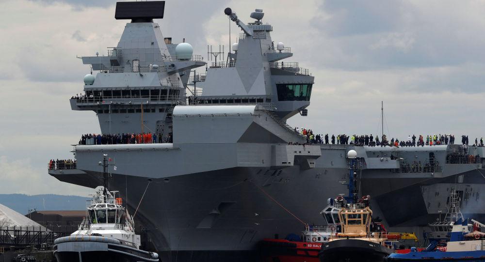 媒體:英國最大航母因漏水返回基地