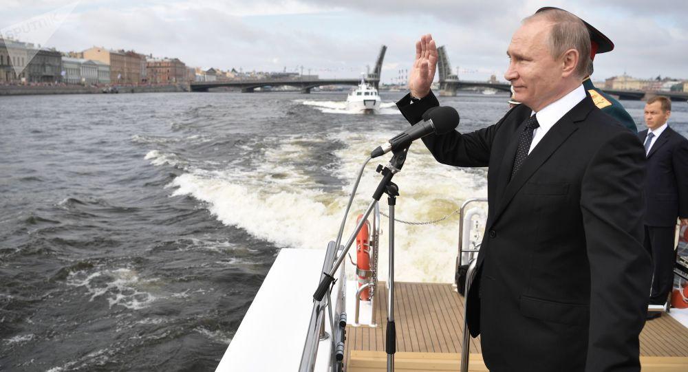 克宫:俄总统普京7月25日将出席圣彼得堡海军阅兵活动