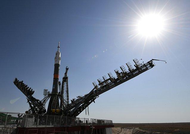 Союз МС-05 на первой стартовой площадке (Гагаринский старт) космодрома Байконур
