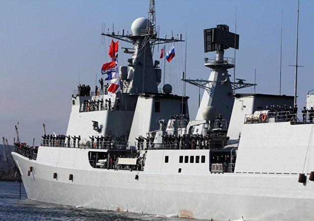 俄中海军联合军演让西方心神不定